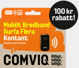 mobilt bredband comviq surf kontant